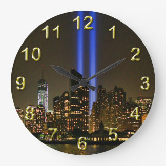 NYC Skyline: WTC  9/11 Tribute In Light 2013 #1 Wallclock