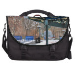 NYC Snowy Union Square in Winter Laptop Computer Bag