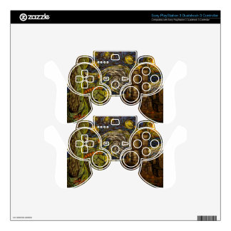 NYC Starry Night.: Twin Towers (The True Towers) Decal For PS3 Controller