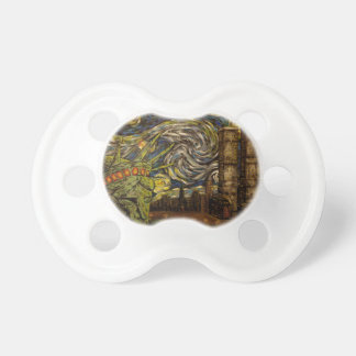NYC Starry Night.: Twin Towers (The True Towers) Pacifier