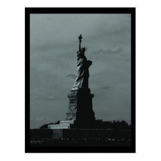 NYC Statue of Liberty B&W Postcard