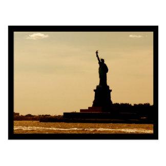 NYC Statue of Liberty Dusk Postcard
