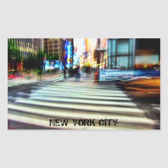 NYC Street Abstract Sticker