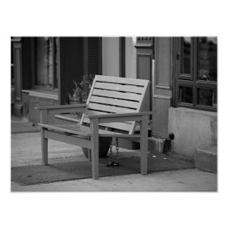 NYC Street Photography - Bench Poster