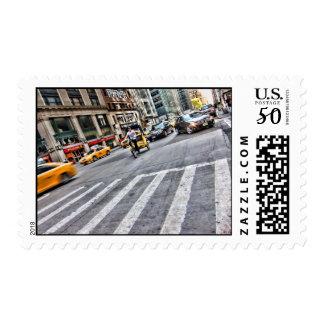 NYC Street Postage Stamp