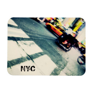 NYC Street Tilted Abstract Magnet