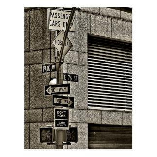 NYC Streetcorner Scene Postcard