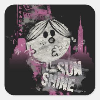 NYC Sunshine on Broadway Square Sticker