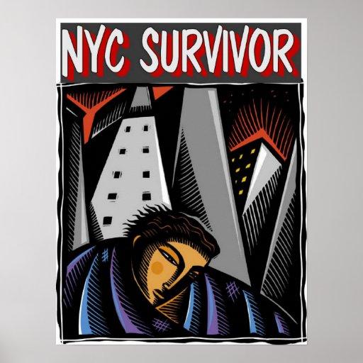 NYC Survivor hurricane Sandy Poster