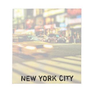 NYC Taxi Abstract Memo Pad