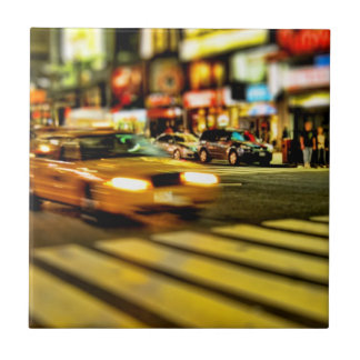 NYC Taxi Abstract Ceramic Tiles