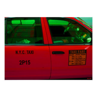 NYC Taxi by Urban59 Artist Alexander Aristotle Poster
