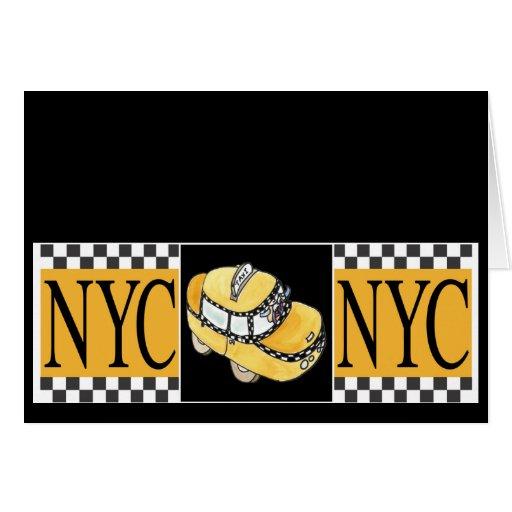 NYC Taxi Cab Greeting Card
