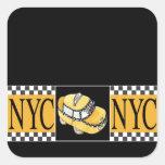 NYC Taxi Cab Square Sticker