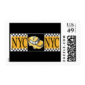 NYC Taxi Cab Stamp