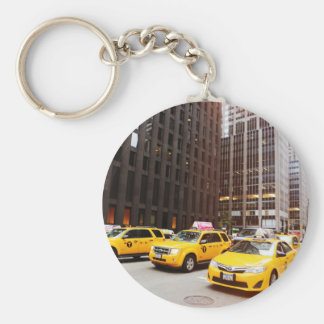 NYC taxi cabs in New York Keychain