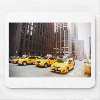 NYC taxi cabs in New York Mouse Pad