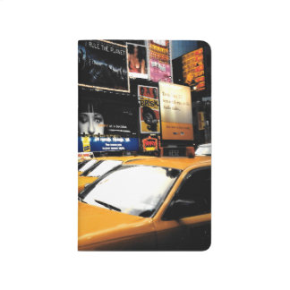NYC Taxi Cabs Time Square Broadway Pocket Journal