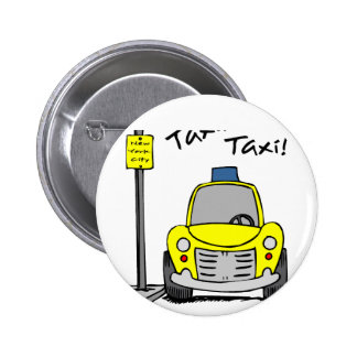 NYC Taxi Pinback Button