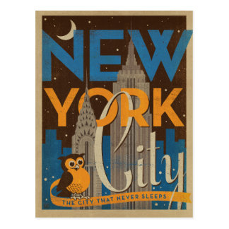 NYC - The City that Never Sleeps Postcard