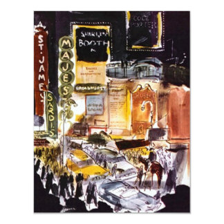 NYC THEATRE DISTRICT INVITATION ~EASY TO CUSTOMIZE
