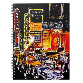 NYC Theatre District Night Broadway Diary Notebook