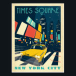 """NYC - Times Square Postcard<br><div class=""""desc"""">Anderson Design Group is an award-winning illustration and design firm in Nashville,  Tennessee. Founder Joel Anderson directs a team of talented artists to create original poster art that looks like classic vintage advertising prints from the 1920s to the 1960s.</div>"""