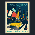 "NYC - Times Square Postcard<br><div class=""desc"">Anderson Design Group is an award-winning illustration and design firm in Nashville,  Tennessee. Founder Joel Anderson directs a team of talented artists to create original poster art that looks like classic vintage advertising prints from the 1920s to the 1960s.</div>"