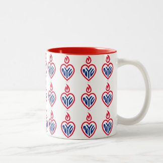 NYC Two-Tone Mug Red - Tiled Gotham Heart