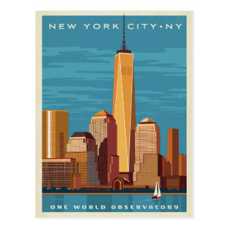 NYC - Un observatorio del mundo Tarjeta Postal