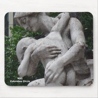 NYC Upclose Statue Woman and Child Mouse Pads