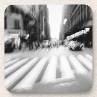 NYC Urban Abstract Scene Beverage Coasters