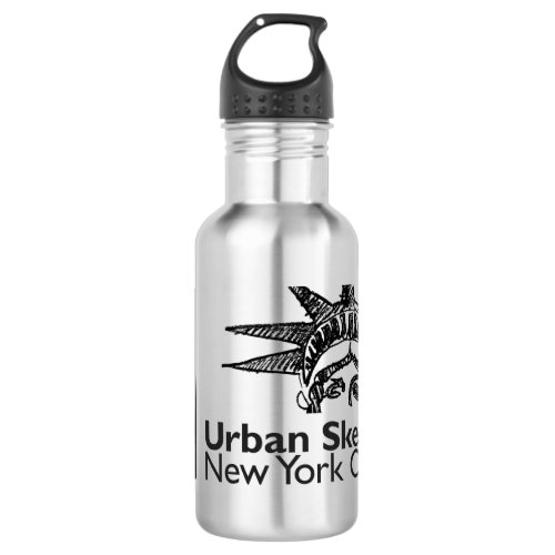 NYC Urban Sketchers Stainless Steel Water Bottle