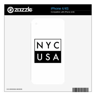 NYC USA SKIN FOR THE iPhone 4