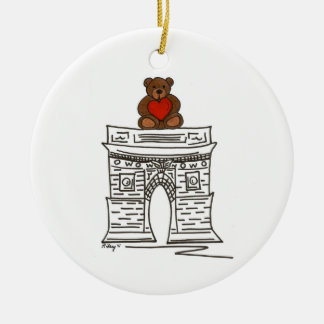 NYC Valentine Washington Sq Teddy Bear Ornament