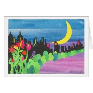 NYC verde en la noche II 07-09 Tarjetón