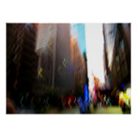NYC Vertical Blur Abstract Poster