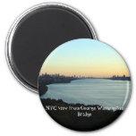 NYC view from George Washington Bridge Refrigerator Magnets