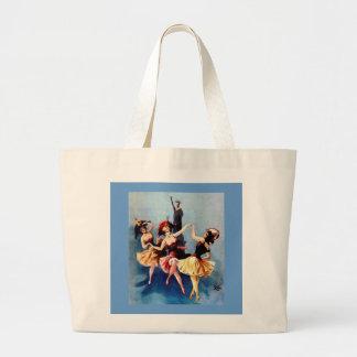 NYC Vintage Ballerinas Dance Canvas Bag