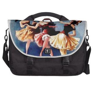 NYC Vintage Ballerinas Dance Laptop Bag