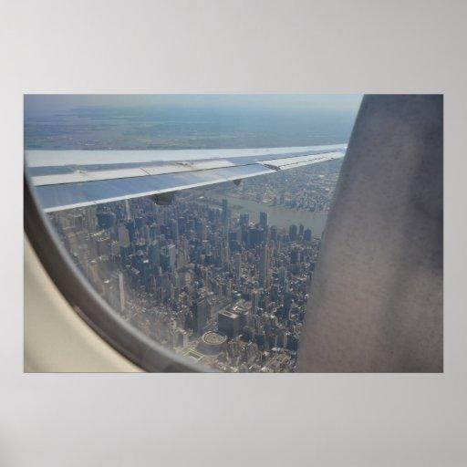 NYC vuelan encima Posters