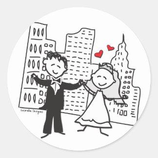 NYC Wedding Classic Round Sticker