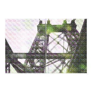 NYC Williamsburg Bridge patternized Canvas Print