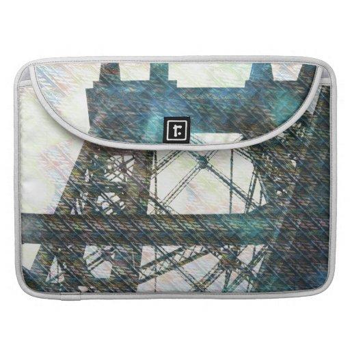 NYC Williamsburg Bridge patternized MacBook Pro Sleeves