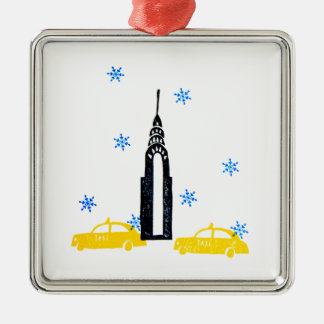 NYC Winter Christmas Tree Ornament