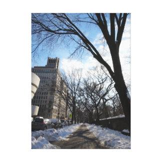 NYC Winter Path Canvas Print