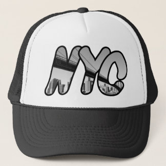 NYC with Brooklyn Bridge Trucker Hat