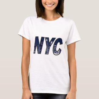 NYC with Manhattan skyline at Night Lights T-Shirt