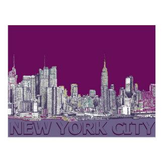 NYC with purple lilac Postcard