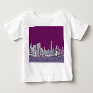 NYC with purple lilac T Shirt